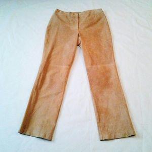 Beige Suede Pants size 10